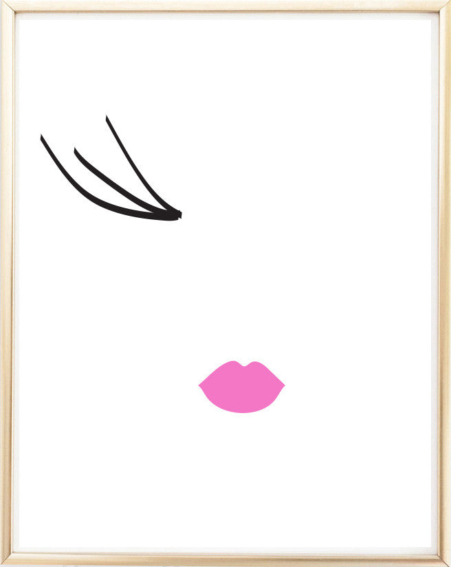 Wink Lashes Print