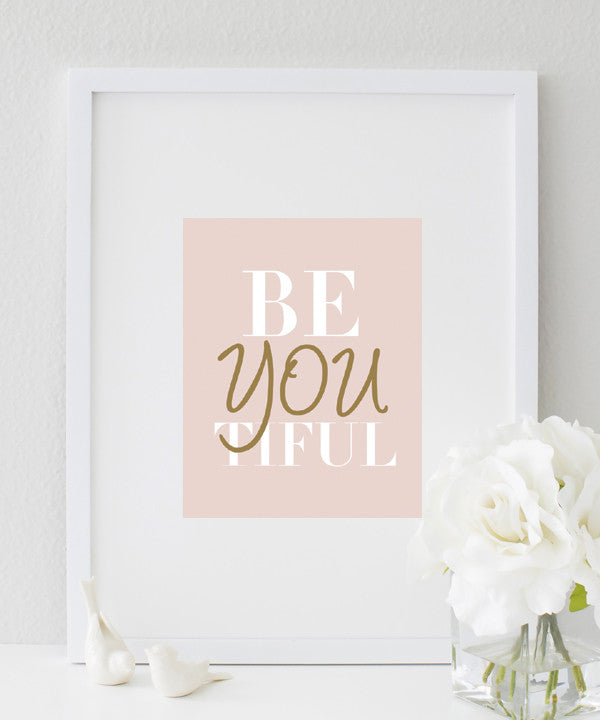 BeYOUtiful POster | Chic Typography
