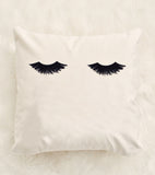 Lashes Velveteen Pillow Cover 18 x 18