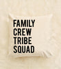 Family Canvas Pillow Cover 18 x 18