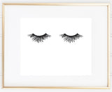 Minimal Yet Gorgeous Eyelashes Print for Bedroom Decor