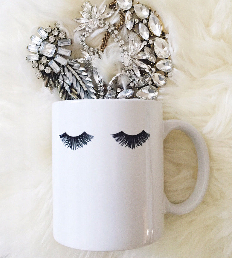 Eyelashes Glam Mug