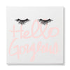 HELLO GORGEOUS EYELASHES CANVAS PRINT
