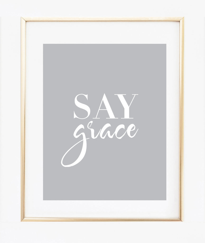 Say Grace print (Black)