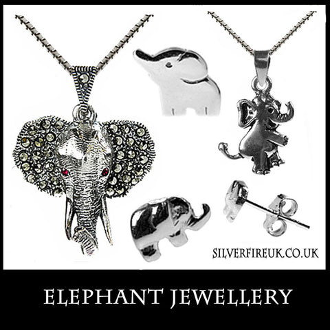 Elephant Jewellery, Elephant Pendant Necklaces, Elephant Earrings & Bracelets
