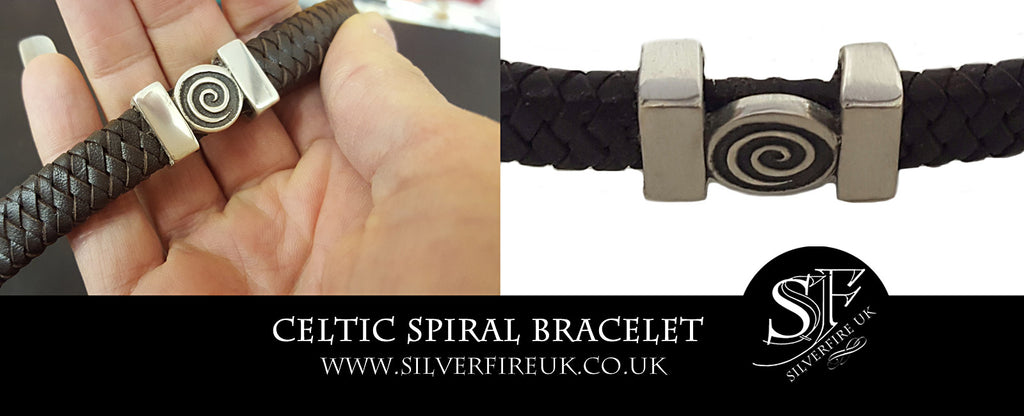 Celtic Spiral Bracelet, Custom Made Celtic Bracelet