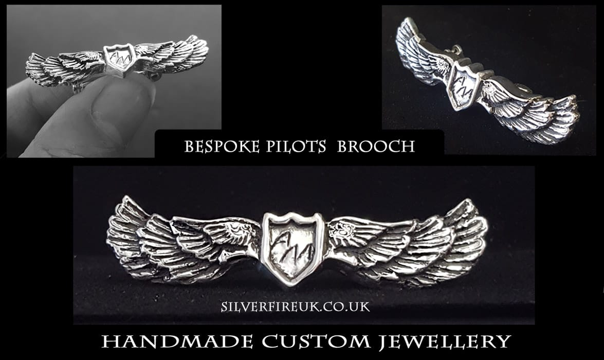 Custom Made Pilots Brooch