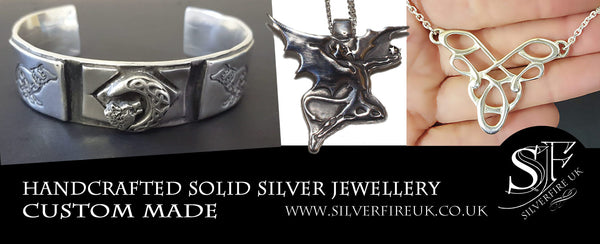 Custom Made Silver Jewellery By Silverfire UK