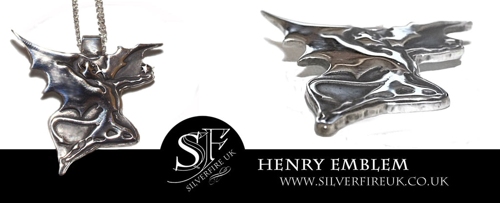 Henry Emblem In Silver,Custom Made Biker Pendants