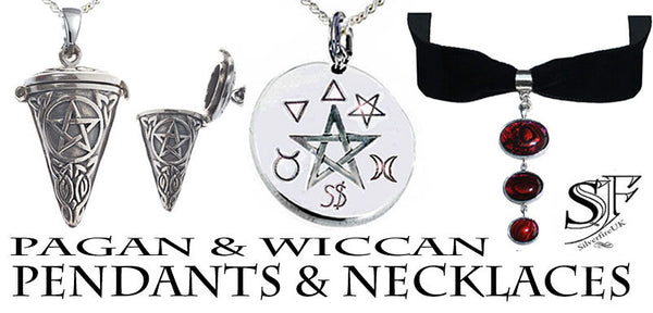 Pagan Wiccan Pendants & Necklaces, Witchy Jewellery