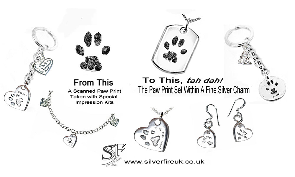 Pet Paw Print Silver Jewellery