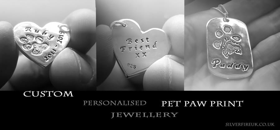 custom paw print jewellery