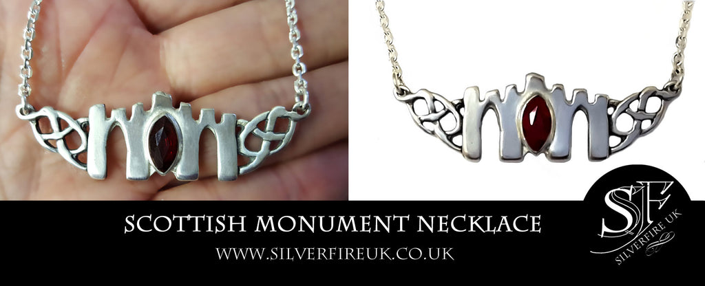 Scottish Monument Celtic Necklace, Custom Made