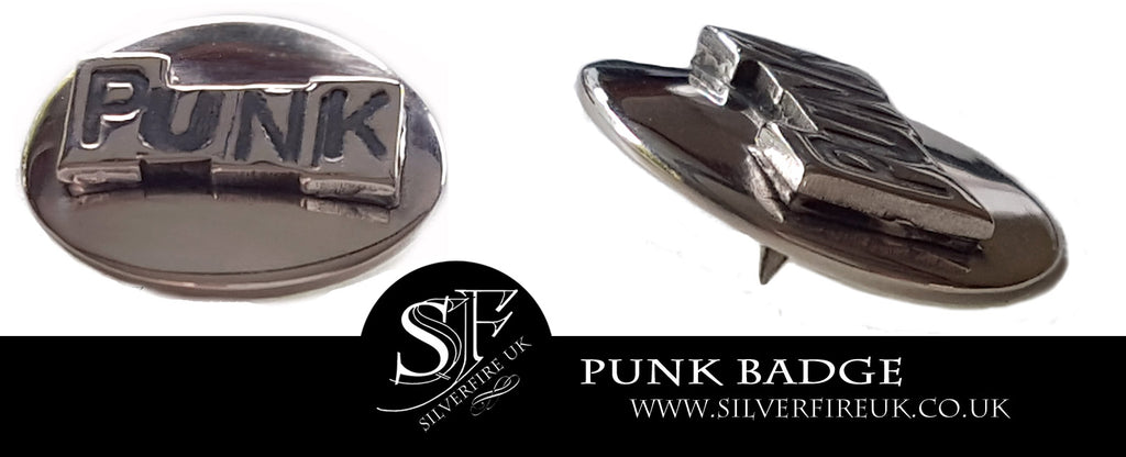 Silver Punk Badge, Custom Made Silver Badges