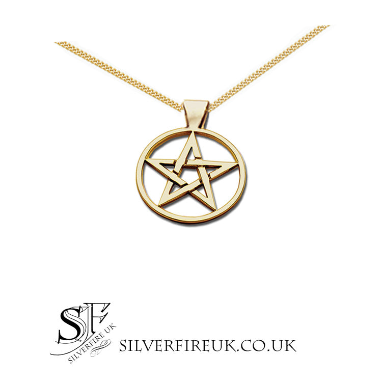 16mm pentagram necklace gold