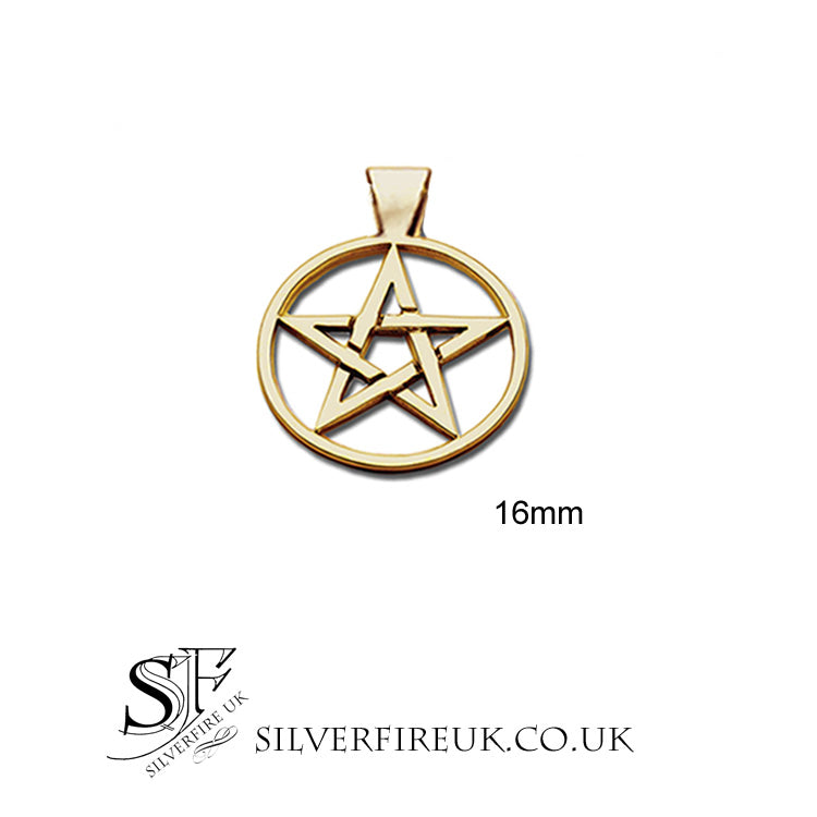 16mm gold pentagram pendant