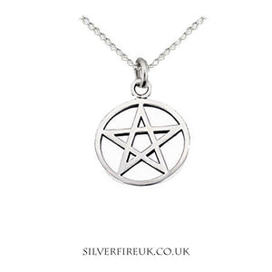 pentagram necklace sterling silver