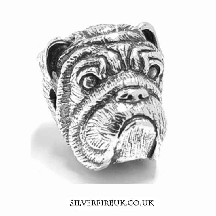 Bulldog silver animal charm