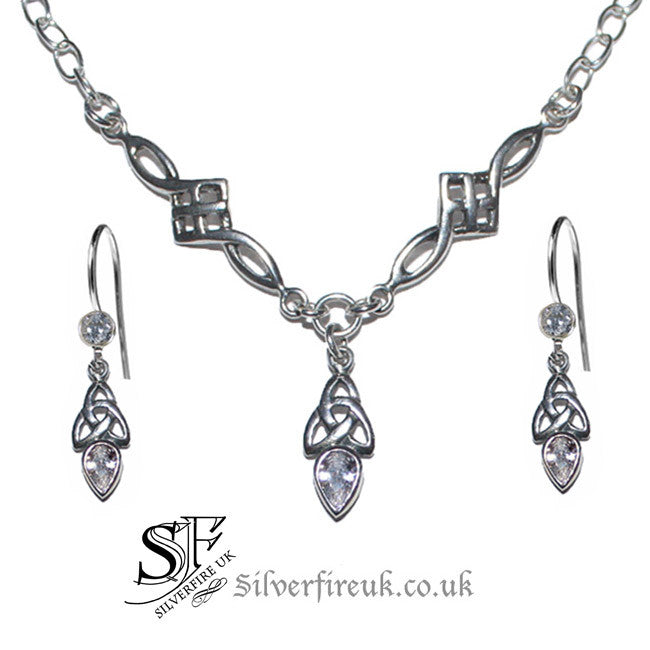 Celtic jewellery set, celtic link jewellery