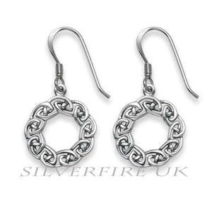 Celtic Circle Earrings, Celtic knot earrings