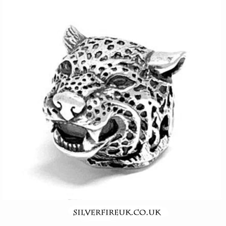 Jaguar silver animal charm
