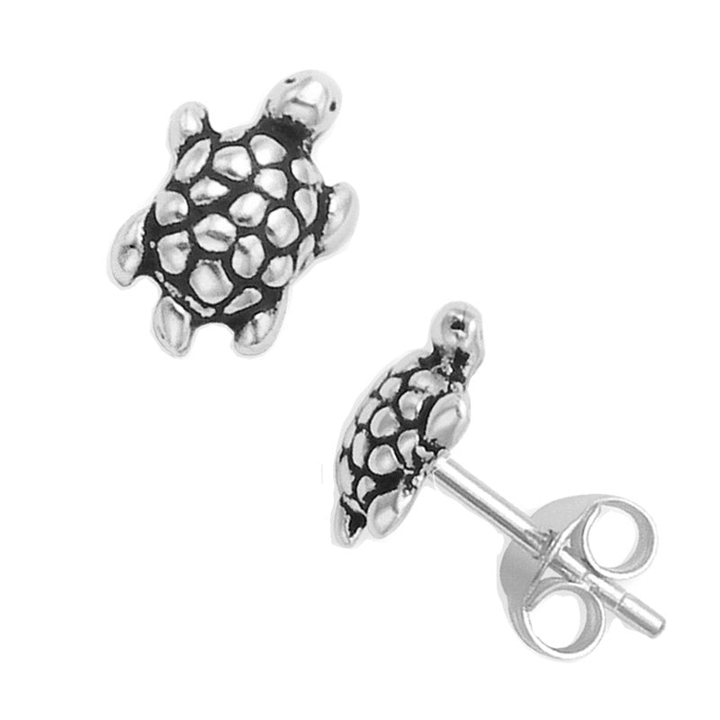 tortoise earrings, studs