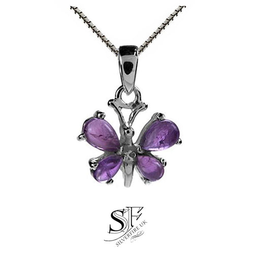 NEW: Amethyst Butterfly Necklace