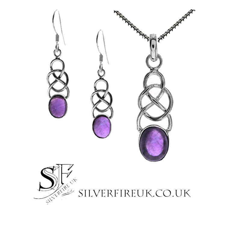 amethyst celtic jewellery