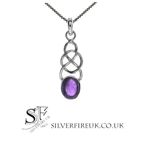 amethyst celtic knot necklace
