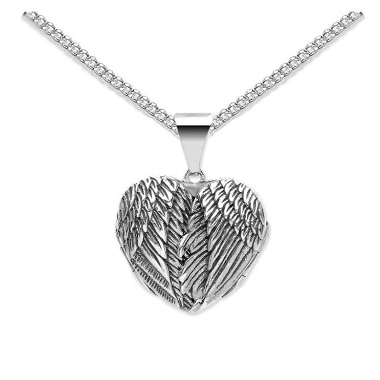 angel wing picture locket