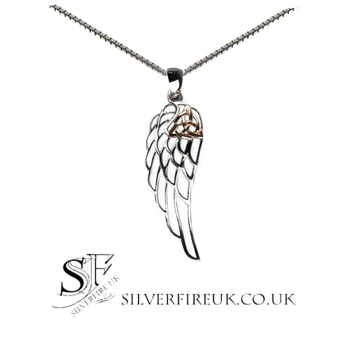 Angel Wing Necklace Triquetra