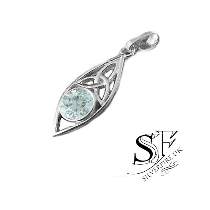 Aquamarine Trinity Necklace