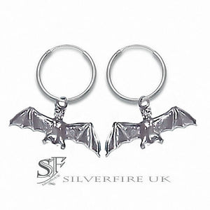 Bat Hoop Earrings | Ear Hoops With Bats