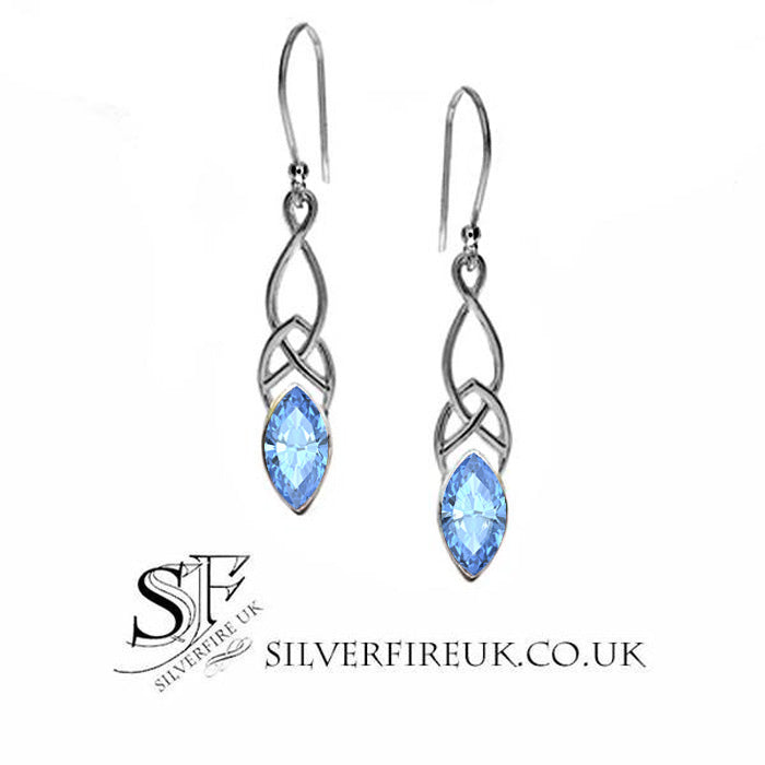 Blue Topaz Celtic Earrings