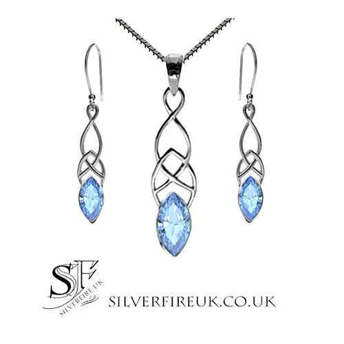 Blue Topaz Jewellery Set