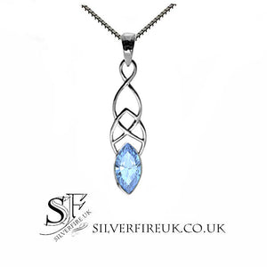 Blue Topaz Celtic Necklace