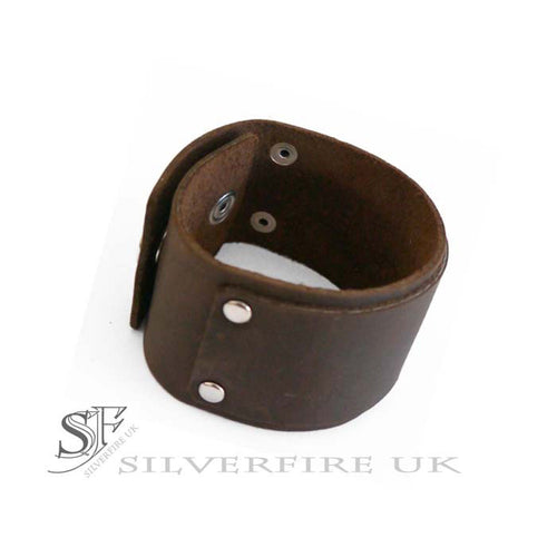 Brown Suede Leather Cuff Bracelet For Men