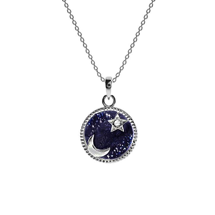 Night sky necklace celestial
