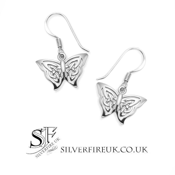 butterfly Celtic earrings