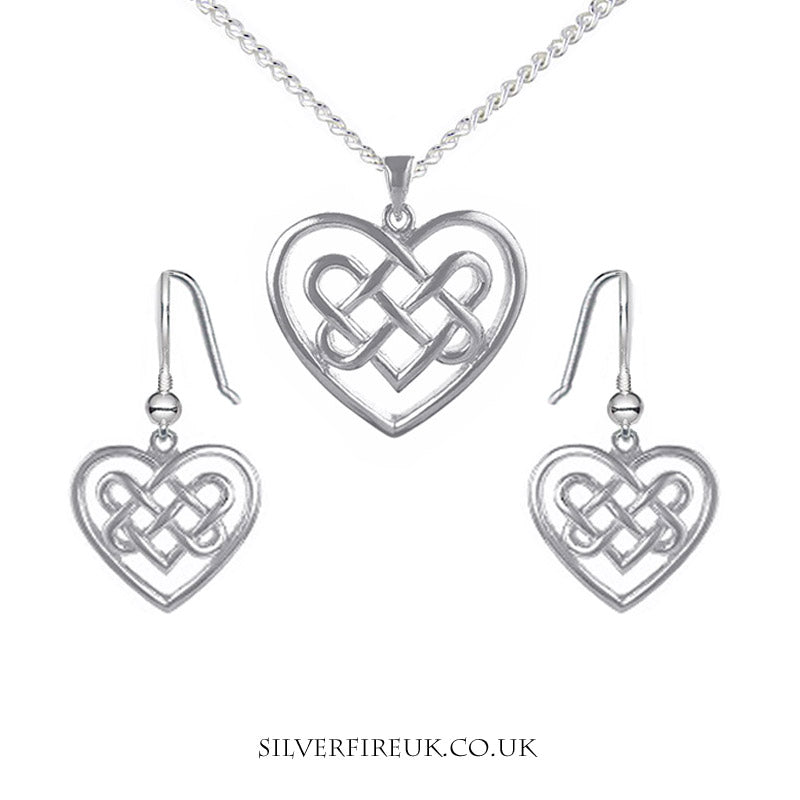 celtic heart jewellery set