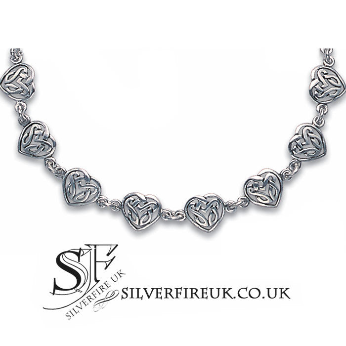 Celtic love heart bracelet