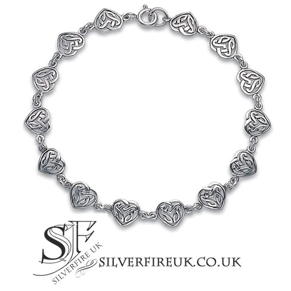 love heart celtic bracelet