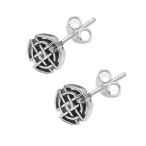 small Celtic knot earrings