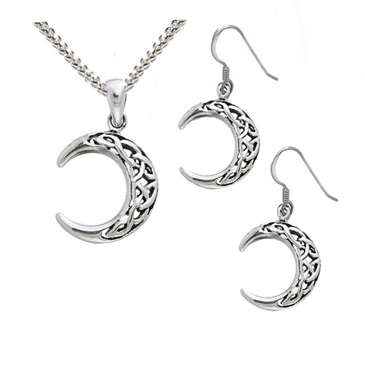 celtic moon jewellery set