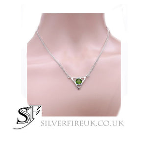 Celtic Necklace with Peridot