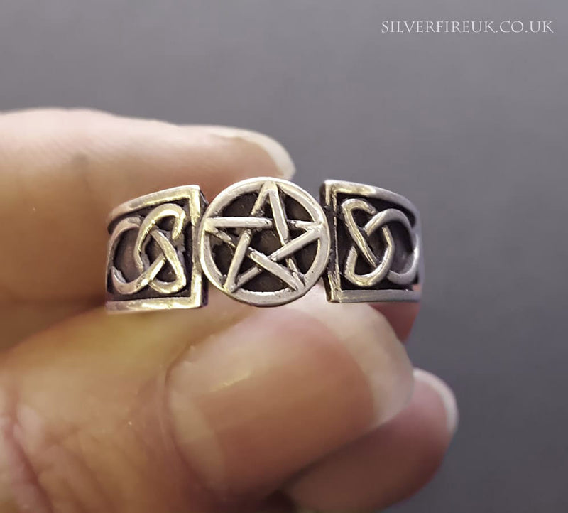 Celtic pentacle ring