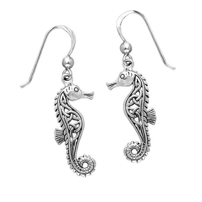 NEW: Celtic Seahorse Earrings
