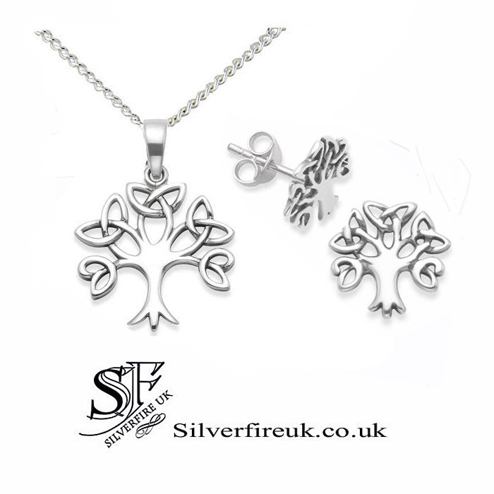 celtic tree of life jewellery set