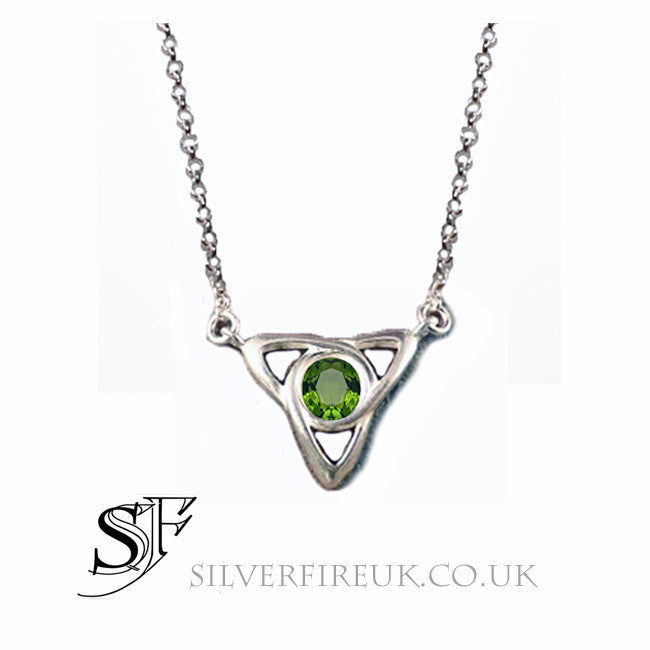 Peridot Celtic Necklace