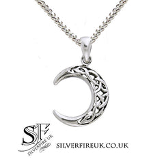 Crescent Moon Celtic Necklace